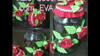 getlinkyoutube.com-Pote decorado com EVA