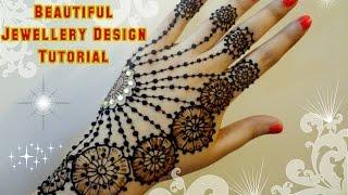 getlinkyoutube.com-Beautiful Mehndi Henna Jewellery Inspired design Tutorial for Eid,Weddings
