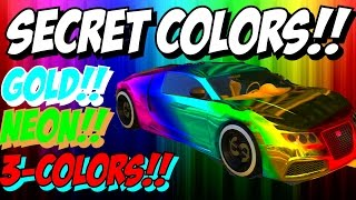 GTA 5 Online: SECRET Car Colors - Neon, Gold, 3-COLORS & More! RARE Paint Jobs (GTA V)