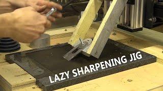 getlinkyoutube.com-Lazy Sharpening Jig / Granite Lapping on CNC