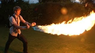 getlinkyoutube.com-DIY X-MEN PYRO shooting 12ft flames from your wrist