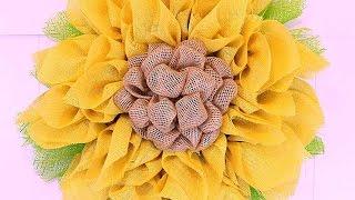 getlinkyoutube.com-How To Burlap And Deco Mesh Sunflower Wreath - DIY Crafts Tutorial - Guidecentral
