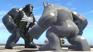 getlinkyoutube.com-LEGO VENOM VS RHINO (Battle) - LEGO Marvel Super heroes