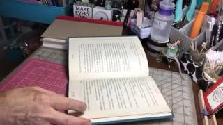 Altered Book TUTORIAL .. How to glue pages