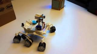getlinkyoutube.com-Arduino Mars Curiosity Rover navigating obstacles