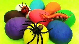 getlinkyoutube.com-Insects Play Doh unboxing surprise eggs toys Huevos sorpresa juguetes आश्चर्य अंडे खिलौने