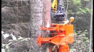 getlinkyoutube.com-Biojack - Energy wood grapple 300E: Multifunction machine for cutting and loading wood