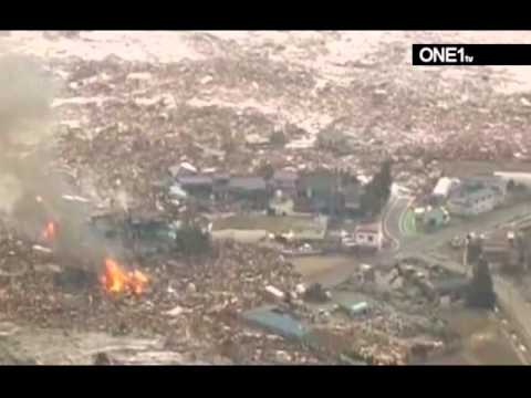 japan earthquake/tsunami 2011: tsunami wash over japan part 1