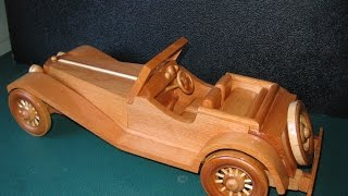 SS100 Jaguar Wooden Model