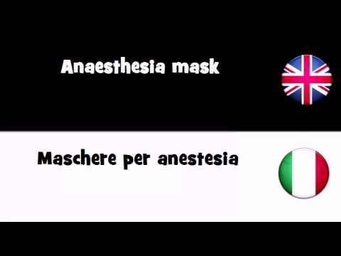 TRANSLATE IN 20 LANGUAGES = Anaesthesia mask