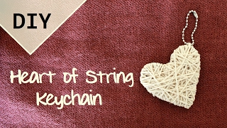 getlinkyoutube.com-DIY Heart of String Keychain   Valentine's Day