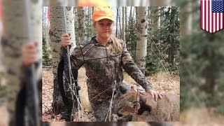 getlinkyoutube.com-When animals attack: Texas teen Alyssa Caldwell guns down mountain lion as it came at her