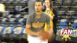 "Stephen Curry Pregame Practice by ""Dave Guingona"""