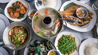 Thai Seafood at Bangpoo - DELICIOUS Crispy Fish and Sour Soup | สุดยอดอาหารทะเลที่บางปู สมุทรปราการ