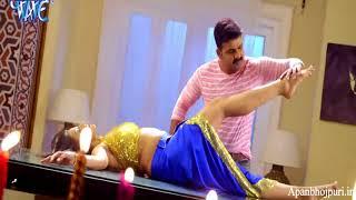 Pawan Singh Kisses Akshar Singh    Hot Scene Bhojpuri Movie    Pawan Raja