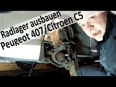 Radlager Peugeot 407 / Citroen C4 C5 wechseln Teil1
