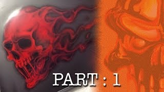 getlinkyoutube.com-Skull with Red Candy Flames, Step by Step Part 1