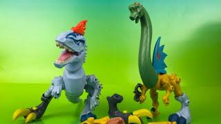 getlinkyoutube.com-Hero Mashers Jurassic World Trex Dinosaurs for kids by DisneyToysReview