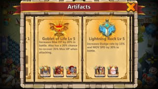 getlinkyoutube.com-Castle Clash NEW UPDATE Leveling Up ARTIFACTS Plus Beating HBM T