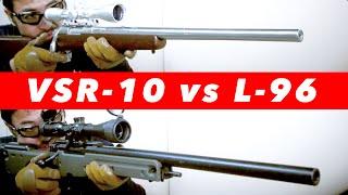 getlinkyoutube.com-東京マルイ VSR-10 vs L96 AWS  比較 してみた。 スナイパーライフル  対決!#123