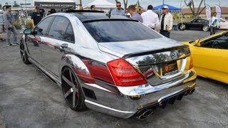 getlinkyoutube.com-LORINSER: Mercedes-Benz S65 Chromed Out Body Wrap W221