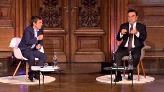 getlinkyoutube.com-Cité de la réussite 2014 - Carlos Ghosn  / David Pujadas