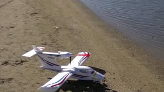 RC Float Plane Flying off Lake Hemet, CA,  8 11 2016