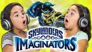 getlinkyoutube.com-MAGICAL BATTLES! Skylanders Imaginators (Kids React: Gaming)