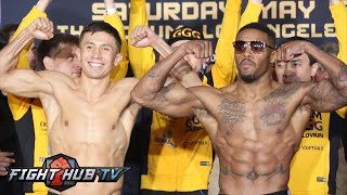 getlinkyoutube.com-Gennady Golovkin vs. Willie Monroe Jr Full Video- COMPLETE Weigh In + Face Off