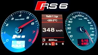 getlinkyoutube.com-Audi RS6 Acceleration 0-340 Autobahn top speed  Onboard V10 Sound RS6 R C6 A6