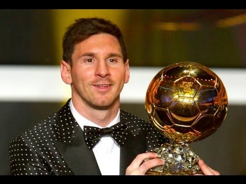 Lionel Messi Wins Ballon d'Or 2012