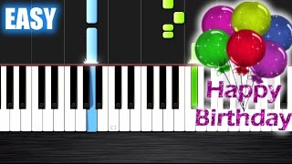 getlinkyoutube.com-Happy Birthday - EASY Piano Tutorial by PlutaX - Synthesia