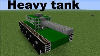 getlinkyoutube.com-Minecraft vehicles ◙ Heavy tank (eng subs)