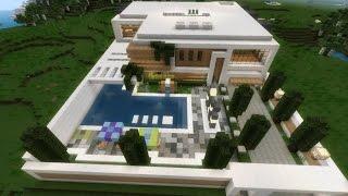 getlinkyoutube.com-Casa Moderna Avançada - Minecraft PE 0.12.1