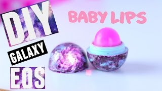 getlinkyoutube.com-DIY GALAXY EOS LIP BALM with BABY LIPS - PINK PUNCH | Tutorial | Wendiness Lu