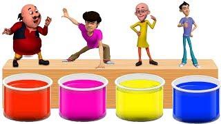Motu Patlu Gattu Battu Bathing Colors Fun - Colors for Children to Learn with Motu Patlu Cartoon