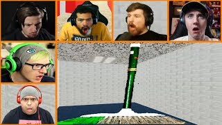 Let's Players Reaction To Gotta Sweep Sweep Sweep | Baldi's basics in education and learning