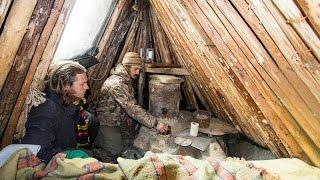 getlinkyoutube.com-Bush Camp Long Term Winter Survival Shelter Course