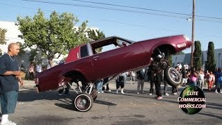 getlinkyoutube.com-VAN NUYS LOWRIDER HOPPING TILL THE WHEEL FALLS OFF!