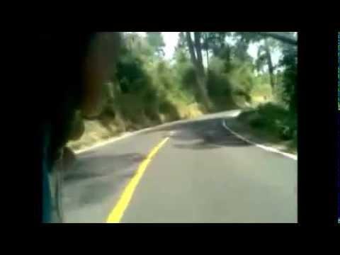Descendiendo el paso de Cortés en bici :D.