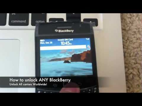 How to Unlock Blackberry (OS5+) locate IMEI &amp; enter Code / Remove &quot;Network MEP Code&quot; Instructions