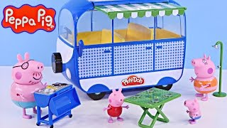 getlinkyoutube.com-NEW Peppa Pig Holiday Campervan Trip | Peppapig Toy Episode Play Doh 2015 DCTC Videos