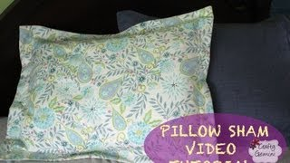 getlinkyoutube.com-How to make a Pillow Sham- DIY Tutorial & Giveaway