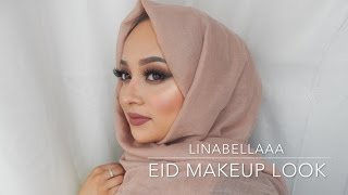 getlinkyoutube.com-EID SERIES - Eid Makeup Look - Smokey Browns! + My Super Quick Hijab Style!