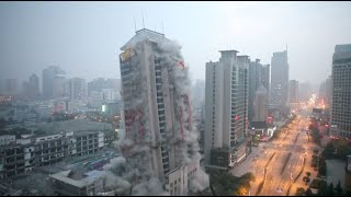 getlinkyoutube.com-118-Meter-High Building Demolished in around 13 Seconds in NW China