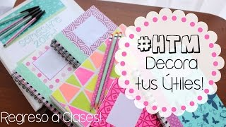 getlinkyoutube.com-#HTM #DIY Decora CUADERNOS, FOLDERS, LAPICES Y ESFEROS!