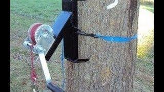 getlinkyoutube.com-HOMEMADE TREE WINCH- WELDING (deer winch)