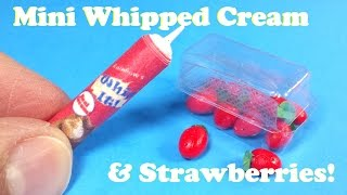 getlinkyoutube.com-DIY Miniature Pack of Strawberries & Whipped Cream