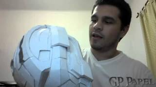 getlinkyoutube.com-Cascos con pepakura GP Papel