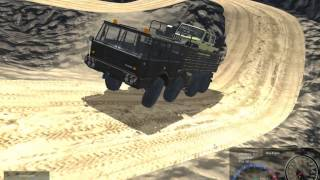 getlinkyoutube.com-Unity Realistic Vehicle Physics - Tatra Carrying Jeep Down Mountain